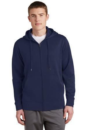 Sport-Tek Sport-Wick Fleece Full-Zip Hooded Jacket. ST238 ...